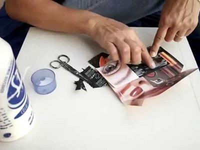 Hagalo Usted Mismo: Como hacer bolsitas de papel con hojas de revista