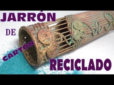 Jarrón de cartón reciclado, como hacerlo - VASE WITH RECYCLED CARDBOARD