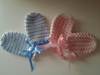 Manoplas (mitones) recién nacido #muy fácil #tutorial #DIY