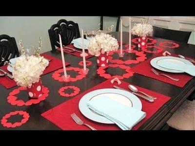 Manualidad para San Valentín - Mantelitos de Corazones para Dia San Valentin