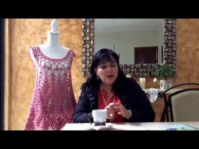 Parte1 - BLUSA DE PIÑAS tejida a ganchillo fácil y rápido - Tejiendo con LAURA CEPEDA