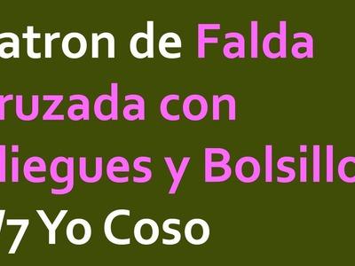 Patron de Falda Cruzada con Pliegues y Bolsillos 1.7