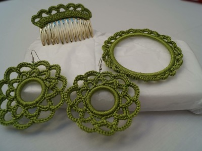 Pendientes de flamenca en crochet
