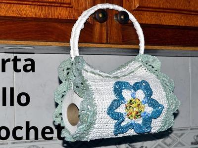 Porta Rollo Cocina en tejido crochet tutorial paso a paso.