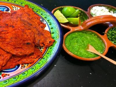 Receta de carne enchilada  o carne adobada para hacer tacos
