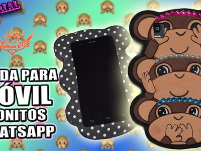 ♥ Tutorial: Funda para Móvil Monitos del Whatsapp UNISEX (Goma Eva.Foamy) ♥