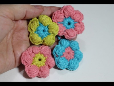 Aprende a tejer tu primera flor punto puff I Crochet point flower I cucaditasdesaluta
