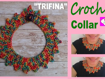 "Collar Vintage a Crochet ♥ Ganchillo ""Trifina"" Tutorial por Maricita Colours"