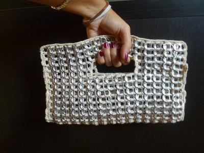 Como hacer un bolso de fiesta con anillas de lata parte 1 DIY