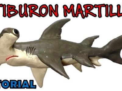 Como hacer un tiburon martillo de plastilina. How to make a hammerhead shark with clay