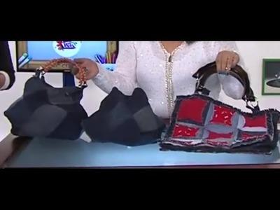 Como hacer una Cartera con Jeans Reciclados -Bolso a Cuadros- Hogar Tv  por Juan Gonzalo Angel