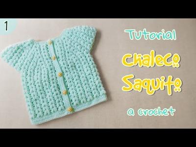 Como tejer saquito para bebe en punto puff (1.3)