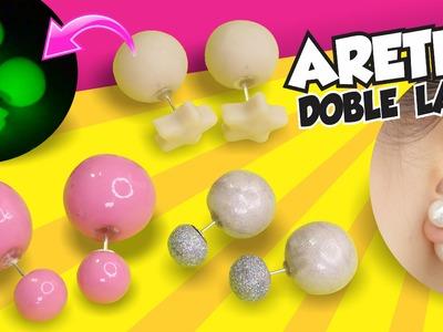 FÁCIL✔ ARETES DE DOBLE PERLA! (Estilo Dior) ★EAP★