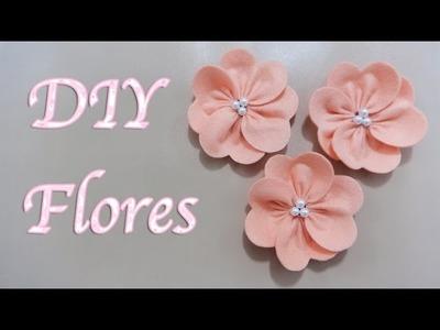 FLORES | COMO HACER FLORES DE TELA FÁCIL | FLOR ELEGANTE | MOTHER'S DAY | DIY - YuureYCrafts