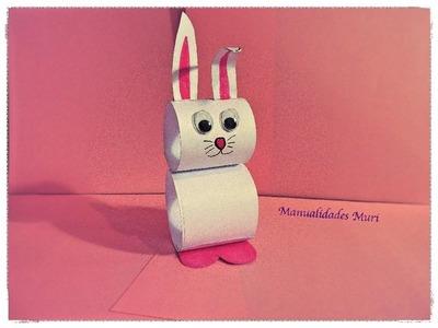 Manualidades, Conejo de papel muy fácil para Pascua.