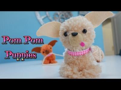Manualidades fáciles para niños, como hacer perritos con pompones de lana - Chihuahua - Isa ❤️