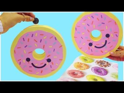 Manualidades kawaii:Como hacer una DONA(alcancía,decoración,caja)