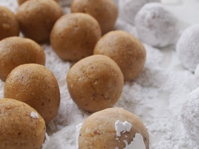 Receta de bolitas de nuez. Nut ball Recipe