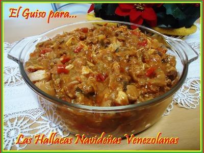Receta del Guiso para las Hallacas Navideñas Venezolanas