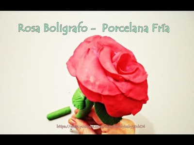 Rosa Porcelana Fria. Rose Cold porcelain Love