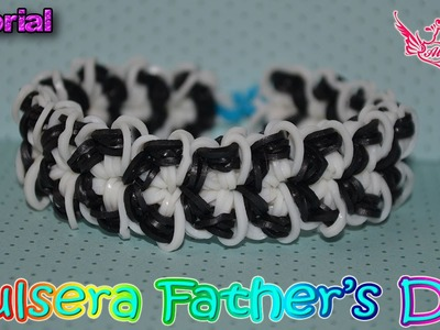 ♥ Tutorial: Pulsera Father's Day de gomitas (Sin Telar) ♥