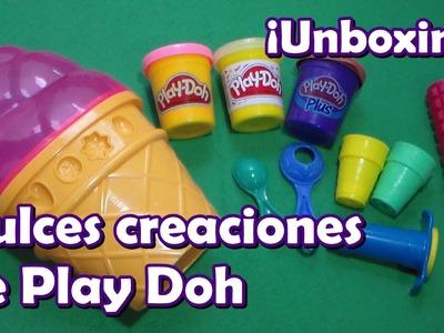 Unboxing Dulces creaciones de Play Doh