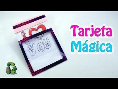202. Manualidades día de la Madre: Tarjeta mágica (Reciclaje) Ecobrisa