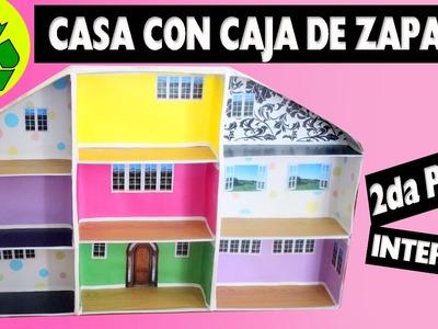 Casa de Muñecas con caja de zapatos - Facilisimo - 2da parte - de 4 Interior