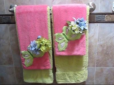 Como decorar y arreglar las toallas de baño (3)