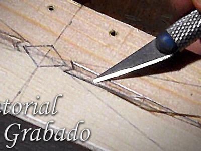 Cómo grabar madera fácilmente, con herramientas sencillas | How to make a easy wood engraving