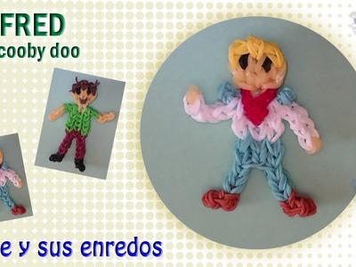 Cómo hacer a Fred de Scooby Doo con gomitas elásticas