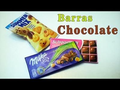 Como hacer Barras de CHOCOLATE para Muñecas FACIL
