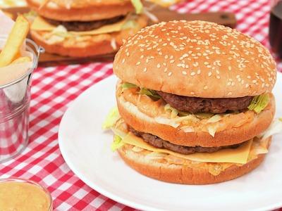 Cómo hacer Hamburguesa Big Mac casera | Carne y Salsa