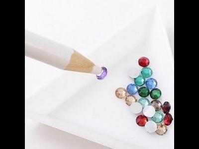Como hacer Lápiz de cera. Lápiz para cristales. Como hacer un lápiz para uñas