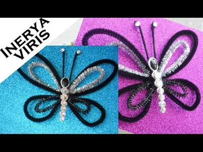 Como hacer MARIPOSAS para decorar - adornos - Fantasía - Disfraces Tutorial Inerya viris