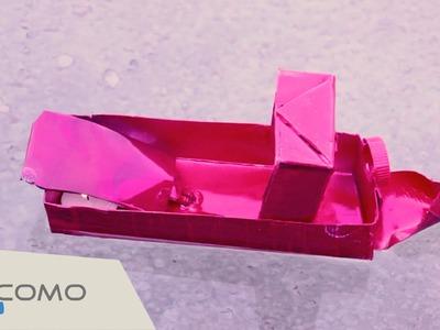 Cómo hacer un barco de vapor pop pop - Manualidades recicladas