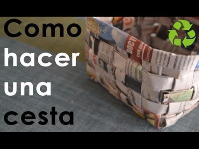 Como hacer una cesta (reciclado)|CcoriStudio