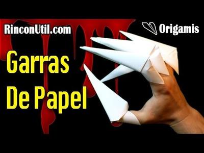 Cómo hacer unas Garras de papel ó Garras Origami