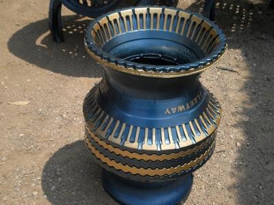 Como reciclar llantas usadas en macetas (jarrones grandes)