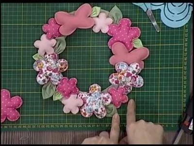 Guirnalda de flores de tela - segunda parte