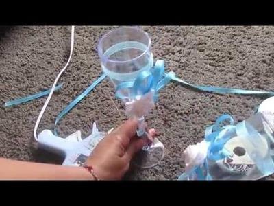 Idea para hacer copas para quinceañera o Boda