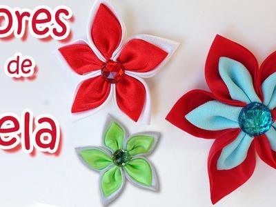 Manualidades : Como hacer Flores de tela - Manualidades para todos