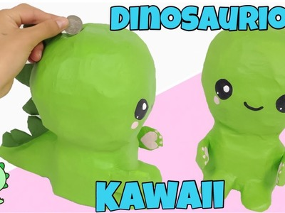 MANUALIDADES KAWAII\como hacer una alcancía DINOSAURIO KAWAII