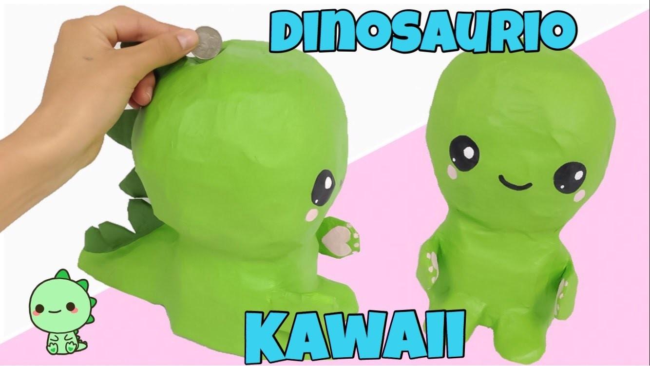 MANUALIDADES KAWAII\como hacer una alcancía DINOSAURIO KAWAII, My