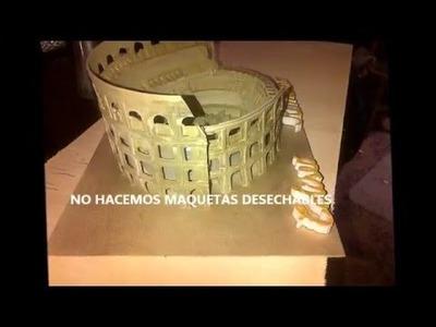MAQUETAS ESCOLARES- COMO HACER EL COLISEO ROMANO