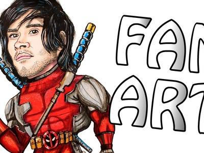 Me Hicieron Mi Propio Fan Art!! - JuegaGerman