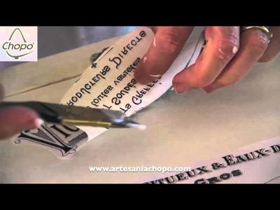 Nueva técnica de transferencia con papel