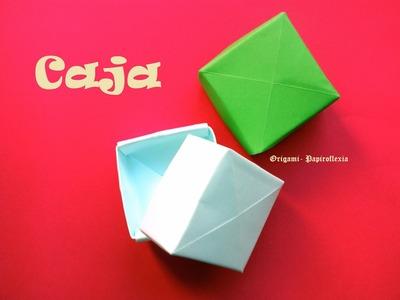 Origami - Papiroflexia. Caja fácil sin usar tijeras
