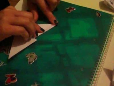 Origami Pico de pato de papel