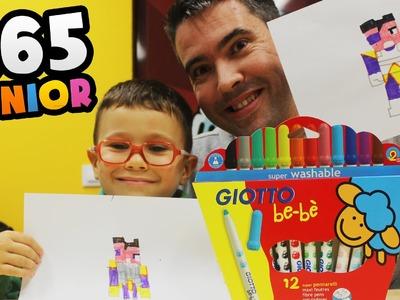 APRENDER A DIBUJAR CON MARCADORES GIOTTO: Como dibujar con niños paso a paso